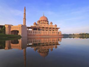 Putra Mosque located in Putrajaya city the new Federal Territory of Malaysia